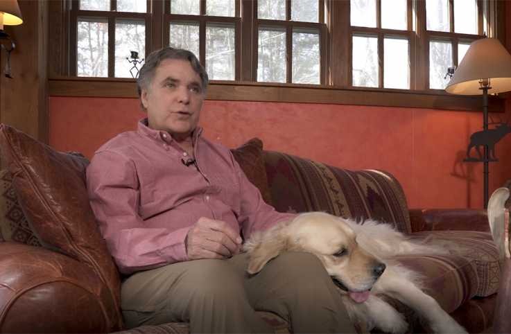 Edward Grinnan and his dog, Gracie