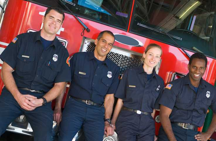 A group of small town firefighters