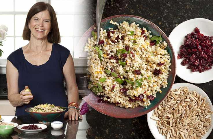 Guideposts: Elinor Griffith pictured with her Cranberry Couscous Salad