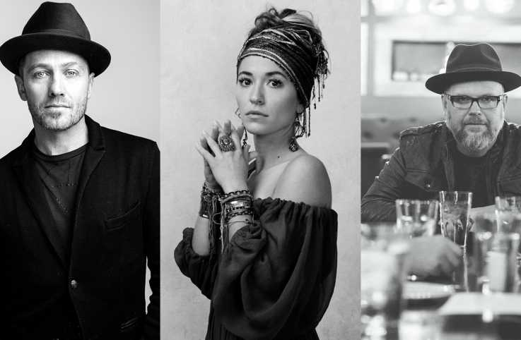 TobyMac, Lauren Daigle and Bart Millard