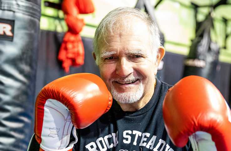 In learning to deal with Parkinson's, Emmett Diggs returned to his first athletic love: Boxing.