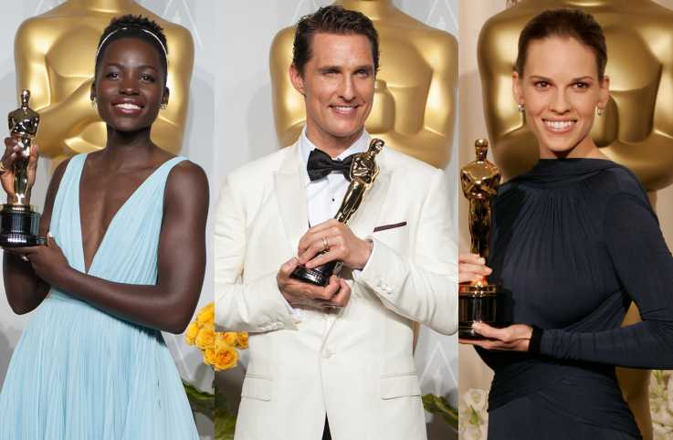 Lupita Nyong'o, Matthew McConaughey and Hilary Swank