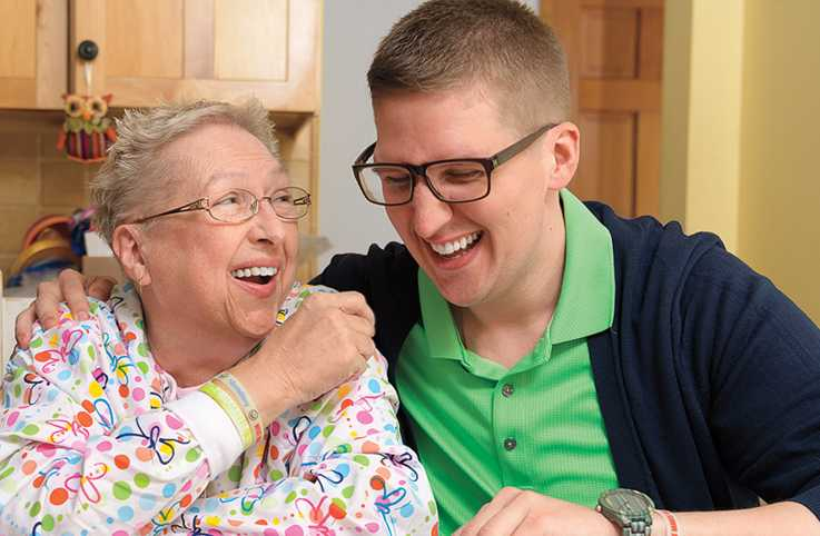 Chris and his mom are caregivers for each other.