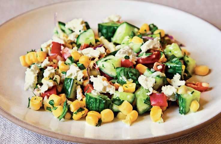 Corn Salad with Buttermilk Dressing
