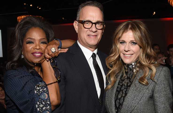 Oprah, Tom Hanks and Rita Wilson