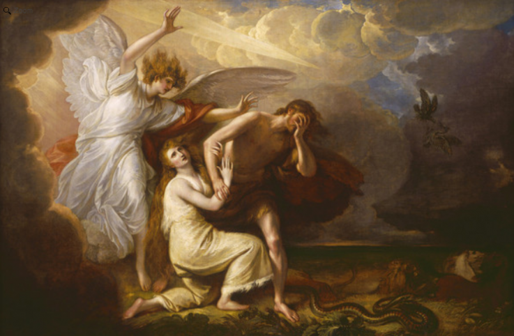The Expulsion of Adam and Eve from Paradise  Benjamin West