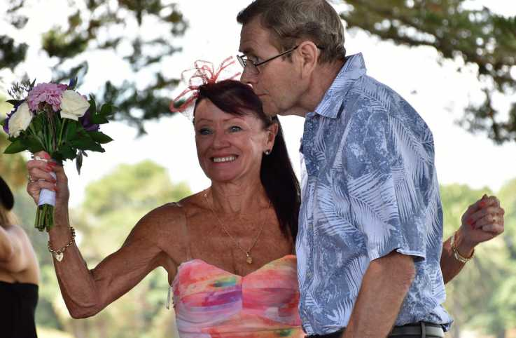 Linda and Mick at their renewal ceremony.
