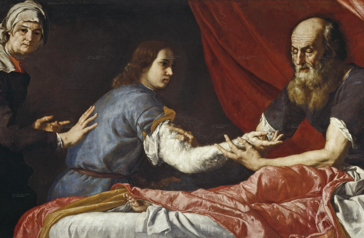 Isaac Blessing Jacob, 1637 by Jusepe de Ribera.