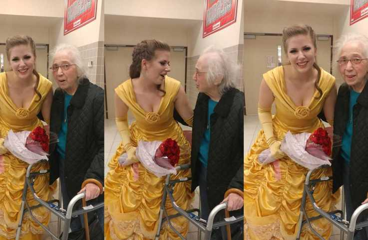 Karen's mom meets the actress who played Belle