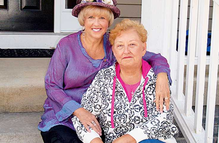 Mary Lou (in hat) found creative ways to life her sister Libby's spirit.