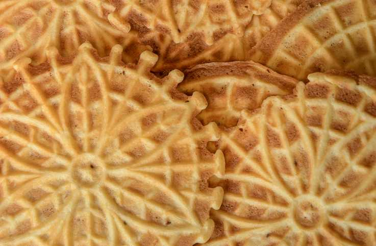 Pizzelles, a traditional Italian pastry