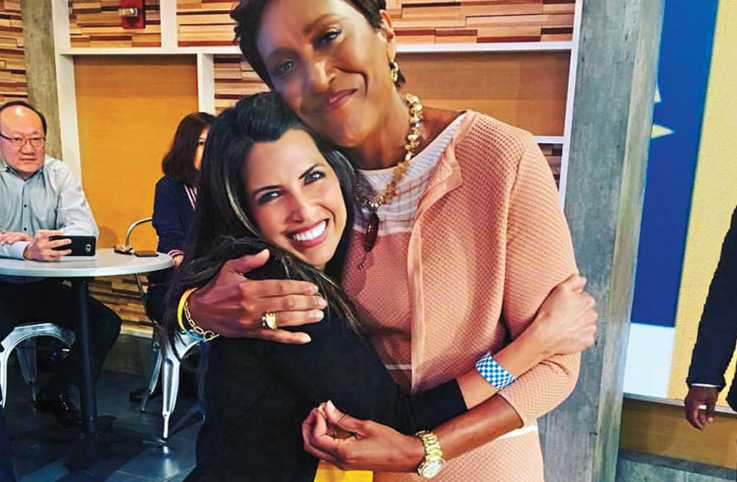 Robin Roberts and Amber on the set of 'Good Morning America'.