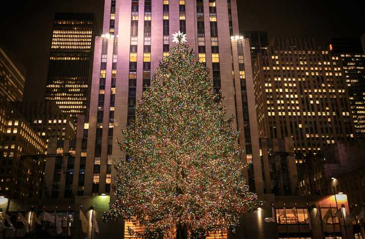 The Rockefeller Center Christmas tree. December 2016