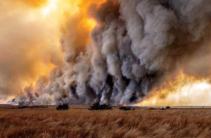 The April 2018 fire in Dewey County, Oklahoma, burned more than 280,000 acres.