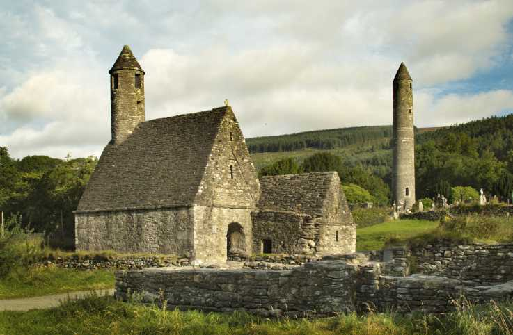 Glendalough monastic site st. kevin ireland travel, visit ireland