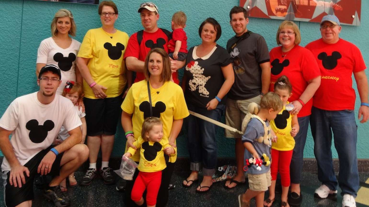 Michelle Cox (second from right) with her family at Disney World.