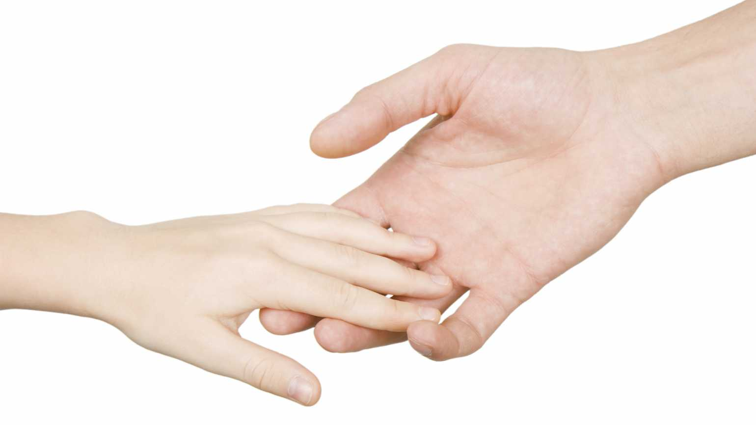 Parent holding a child's hand. Thinkstock.