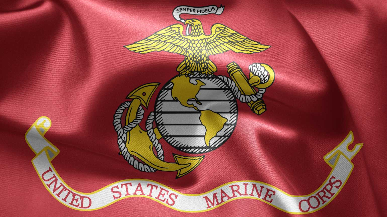 The flag of the U.S. Marines