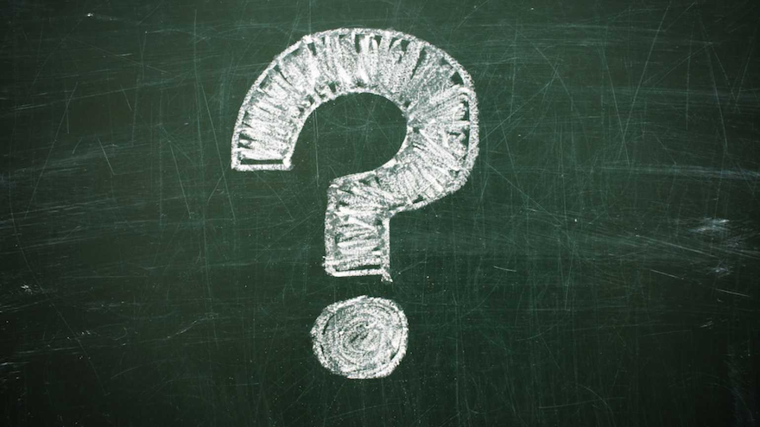 Question mark drawn in chalk. Thinkstock.