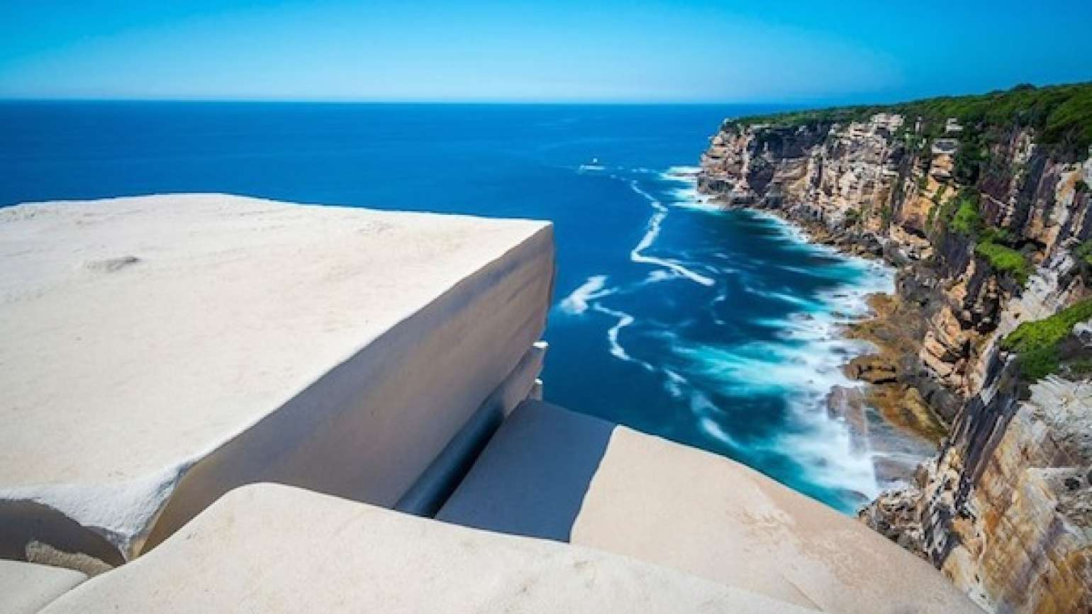The wonder  of The Wedding Cake Rock in New South Wales, Australia.
