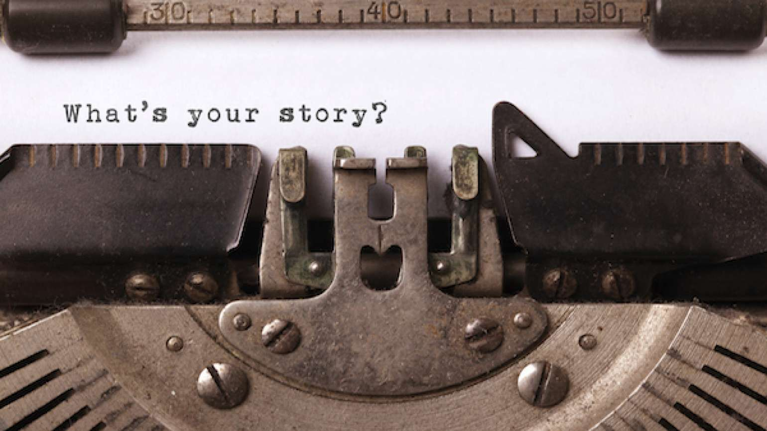 Share your story. It could heal or inspire someone. Or change someone's life.