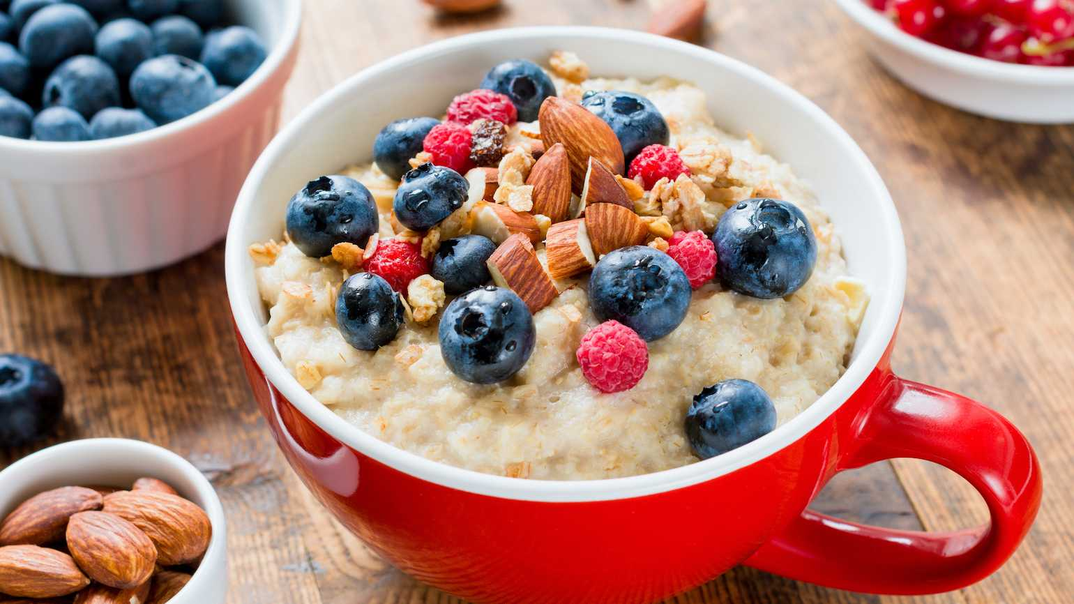 Comforting bowl of oatmeal