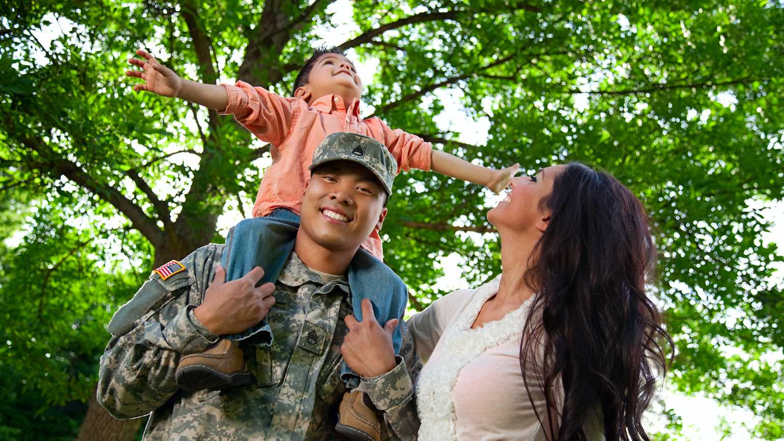 Speak words of affirmation to military families.