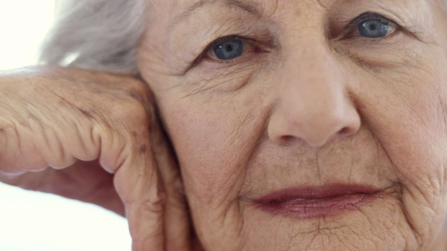 Elderly woman's face. Photo by Pixland, Thinkstock.