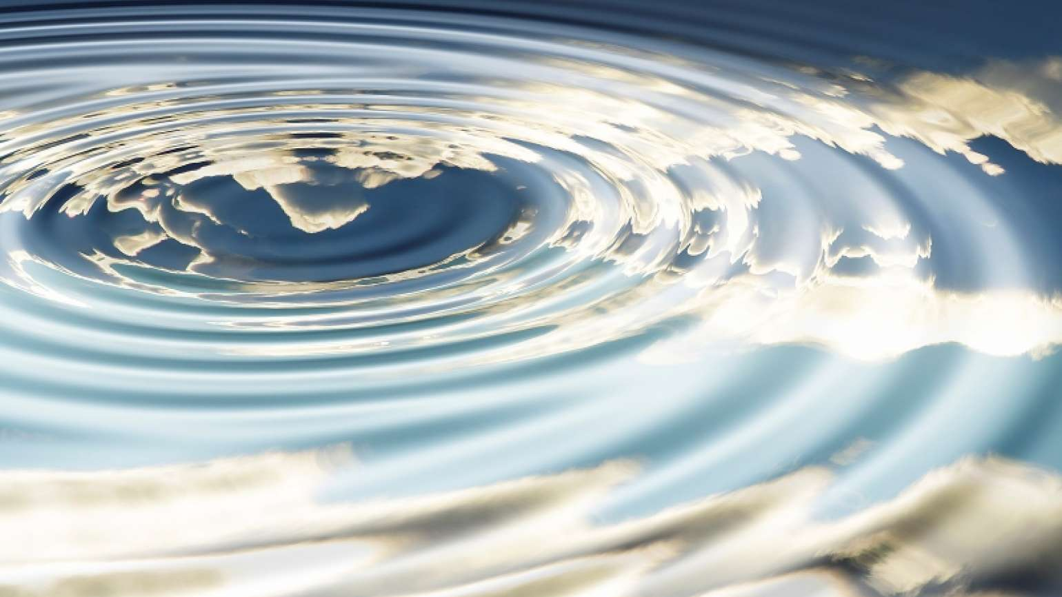 Water ripples with a sky scene