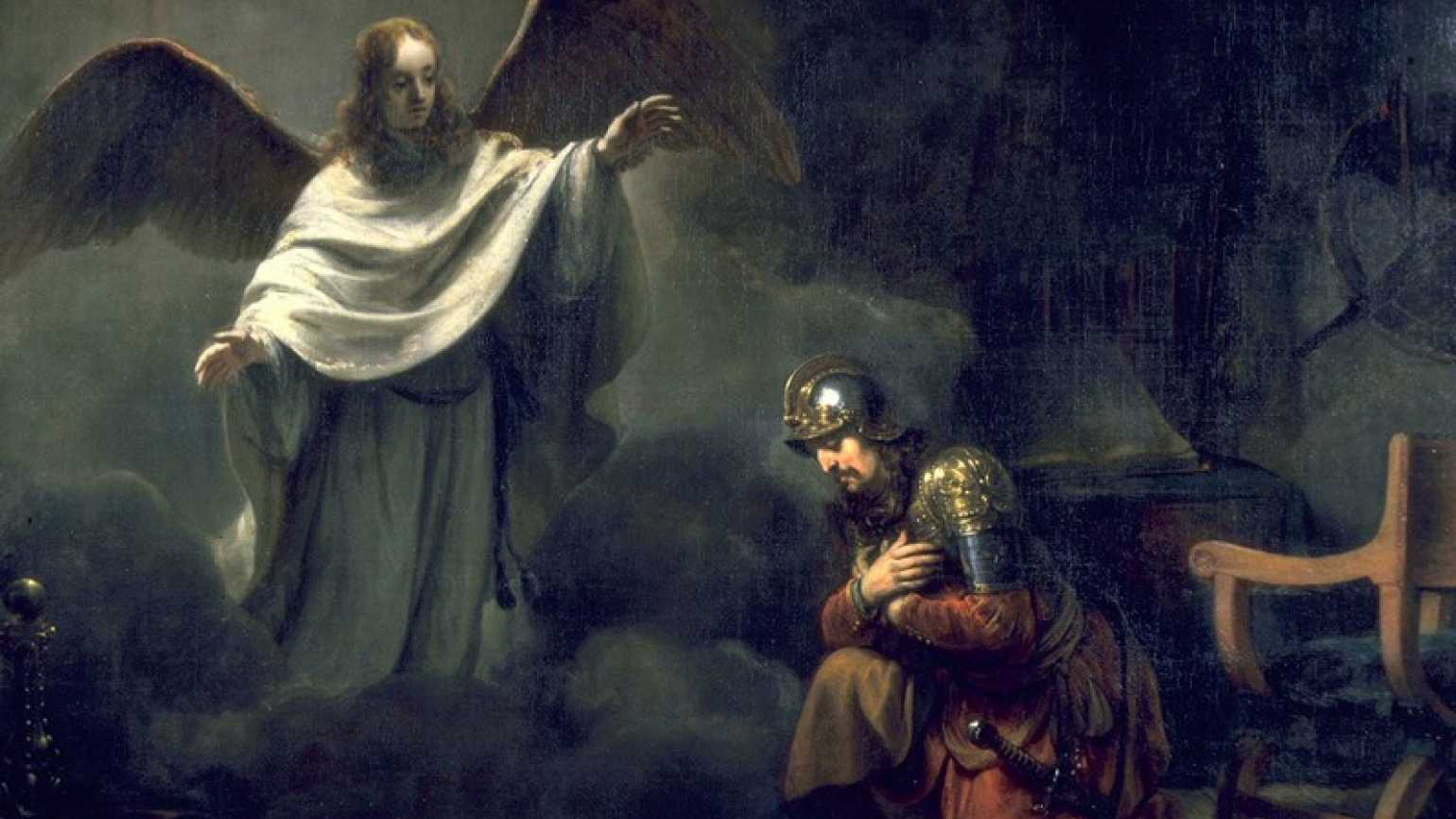 Cornelius being visited by an angel, Acts 10:1-3
