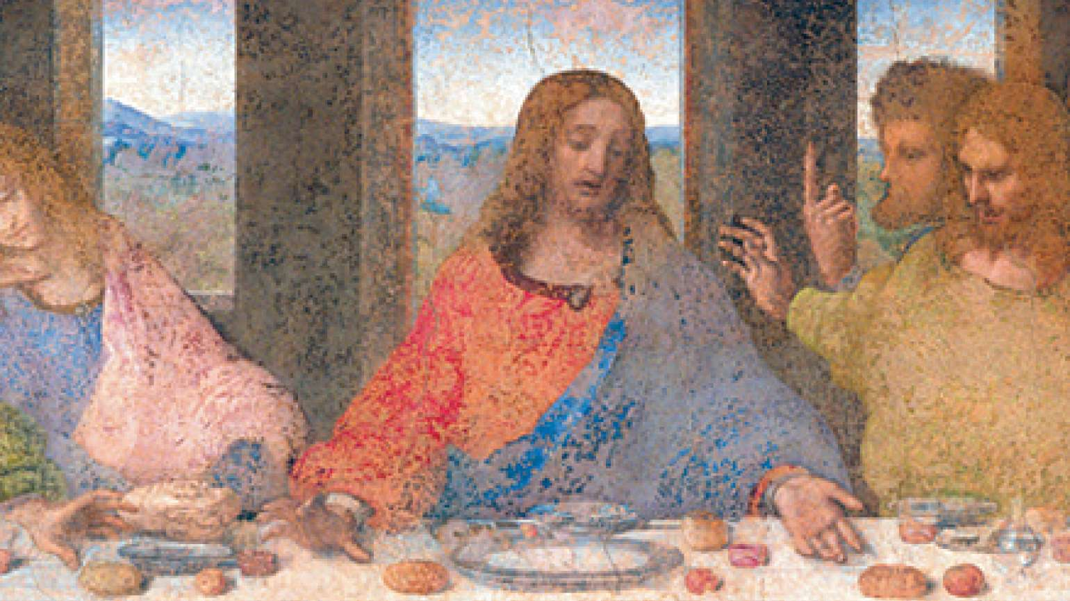 Leonardo's depiction of Christ at the Last Supper