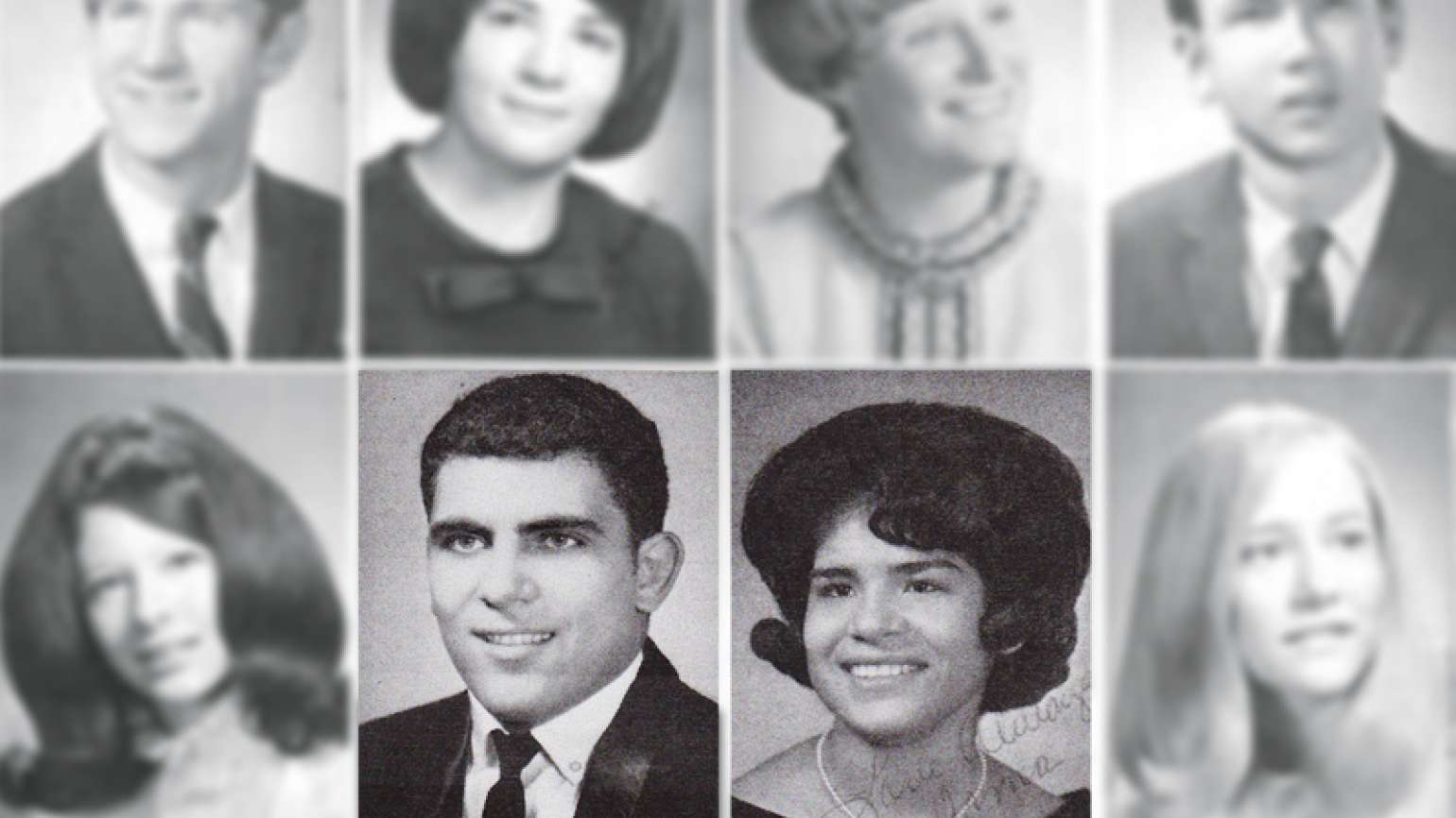Yearbook photos of Irma and Ernie