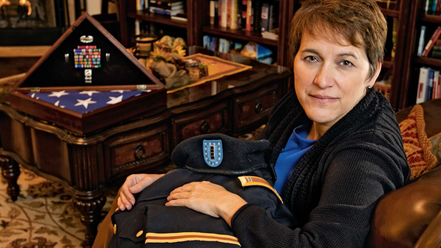Donna Engeman's now an administrator with the Army's Survivor Outreach Services.