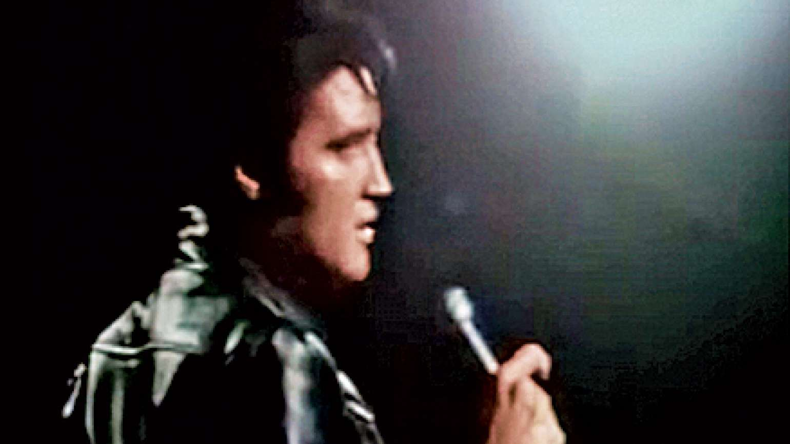 Elvis Presley performing during his 1968 TV comeback special