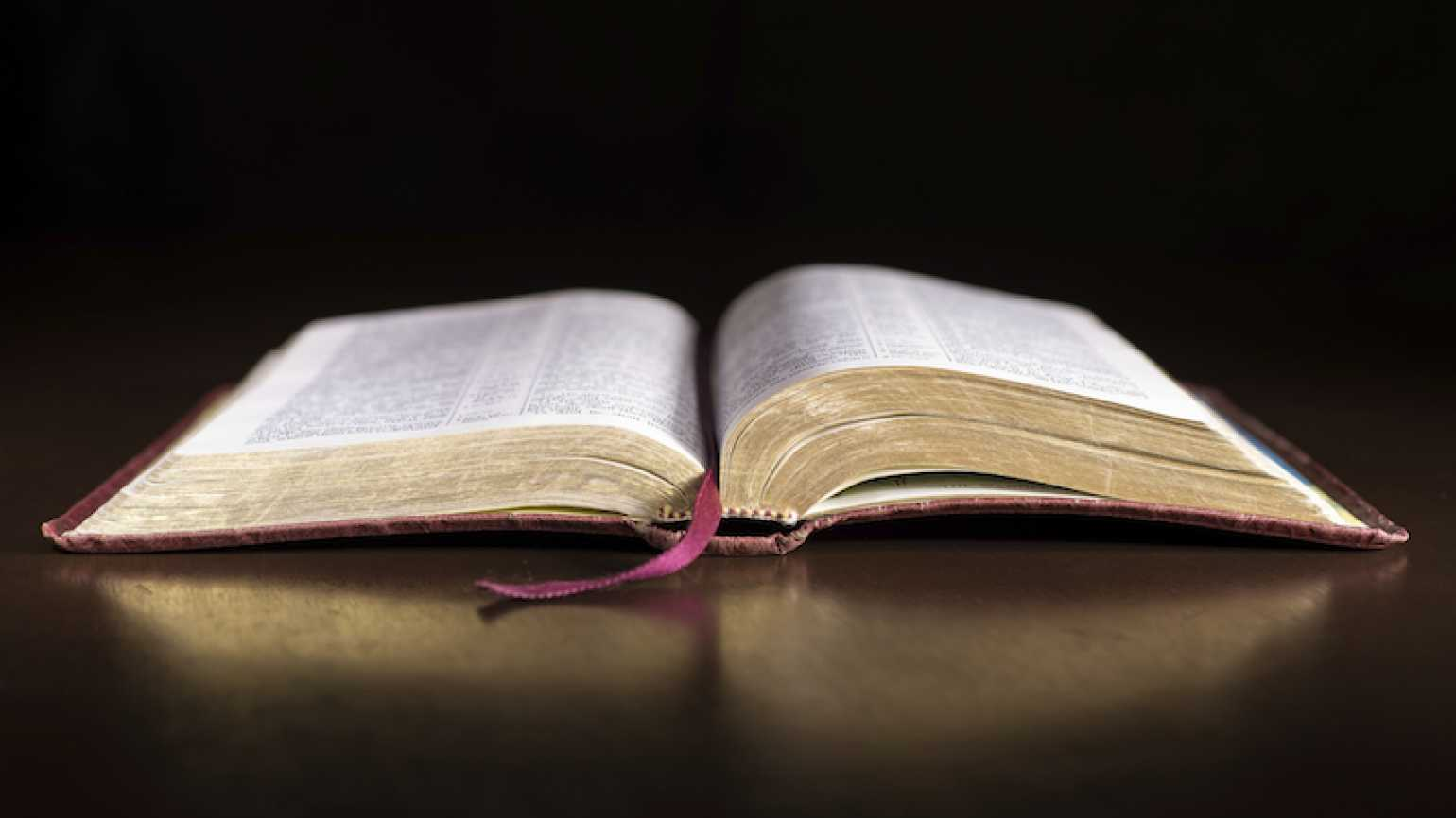 An open Bible. Photo by Todd Sadowski, Thinkstock.