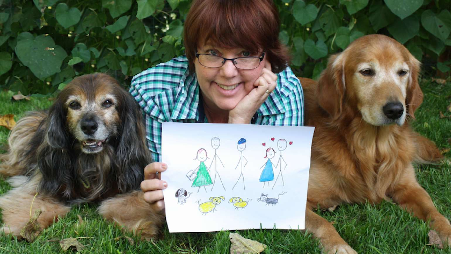 Peggy Frezon and her pawsome family!