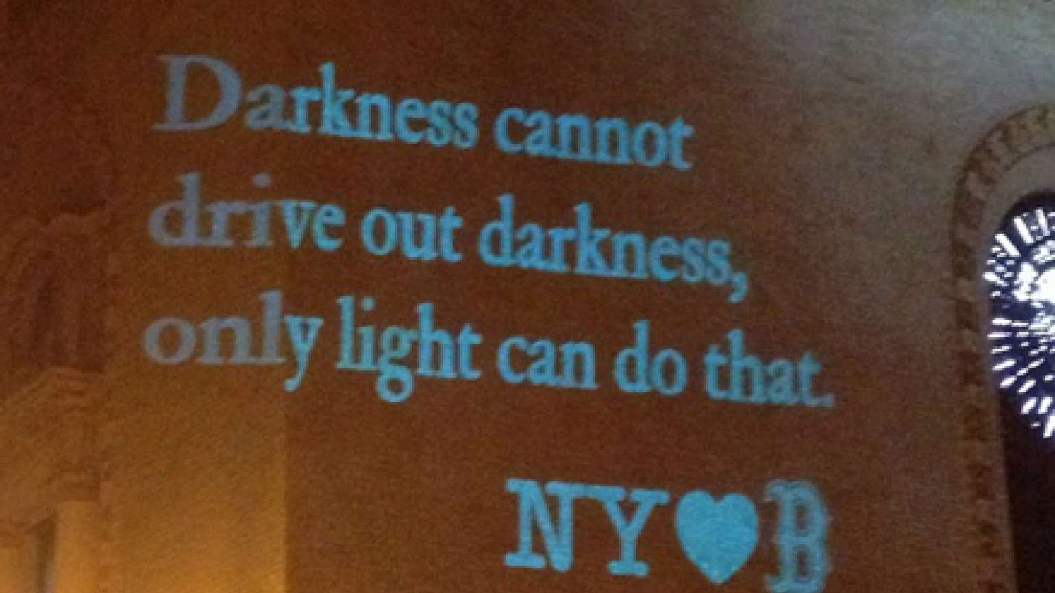 Message from New York after the Boston Marathon bombing