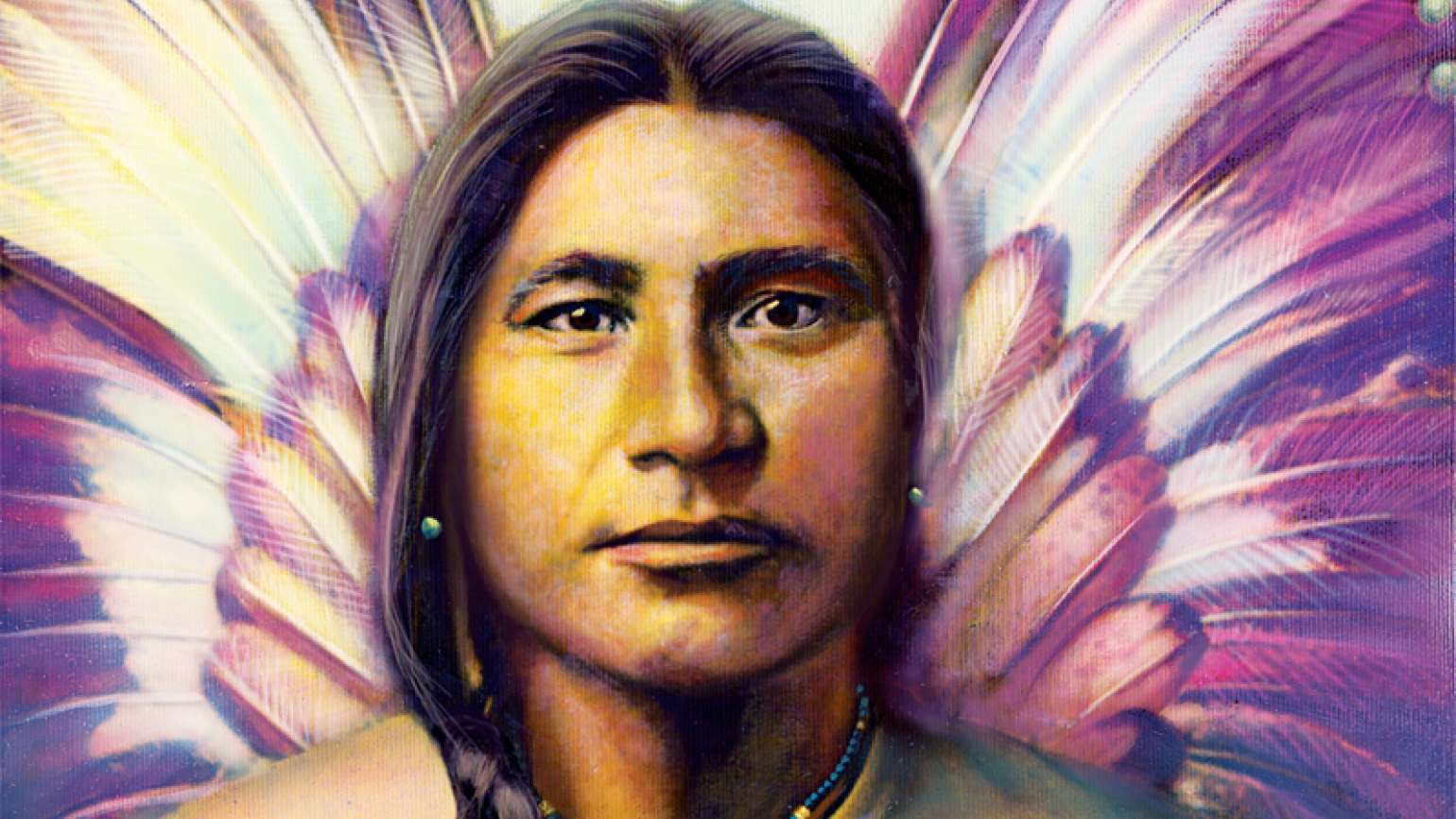 An artist's rendering of a Native American angel