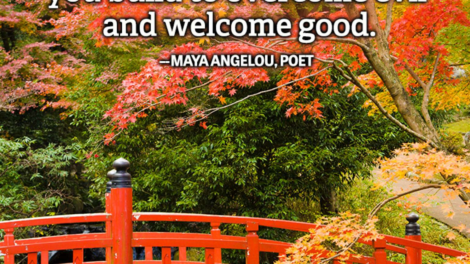 Maya Angelou quote gratitude faith nightly prayer bridge welcome good