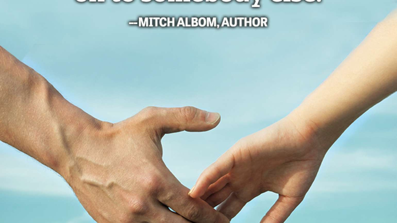 sacrifice precious passing on Mitch Albom