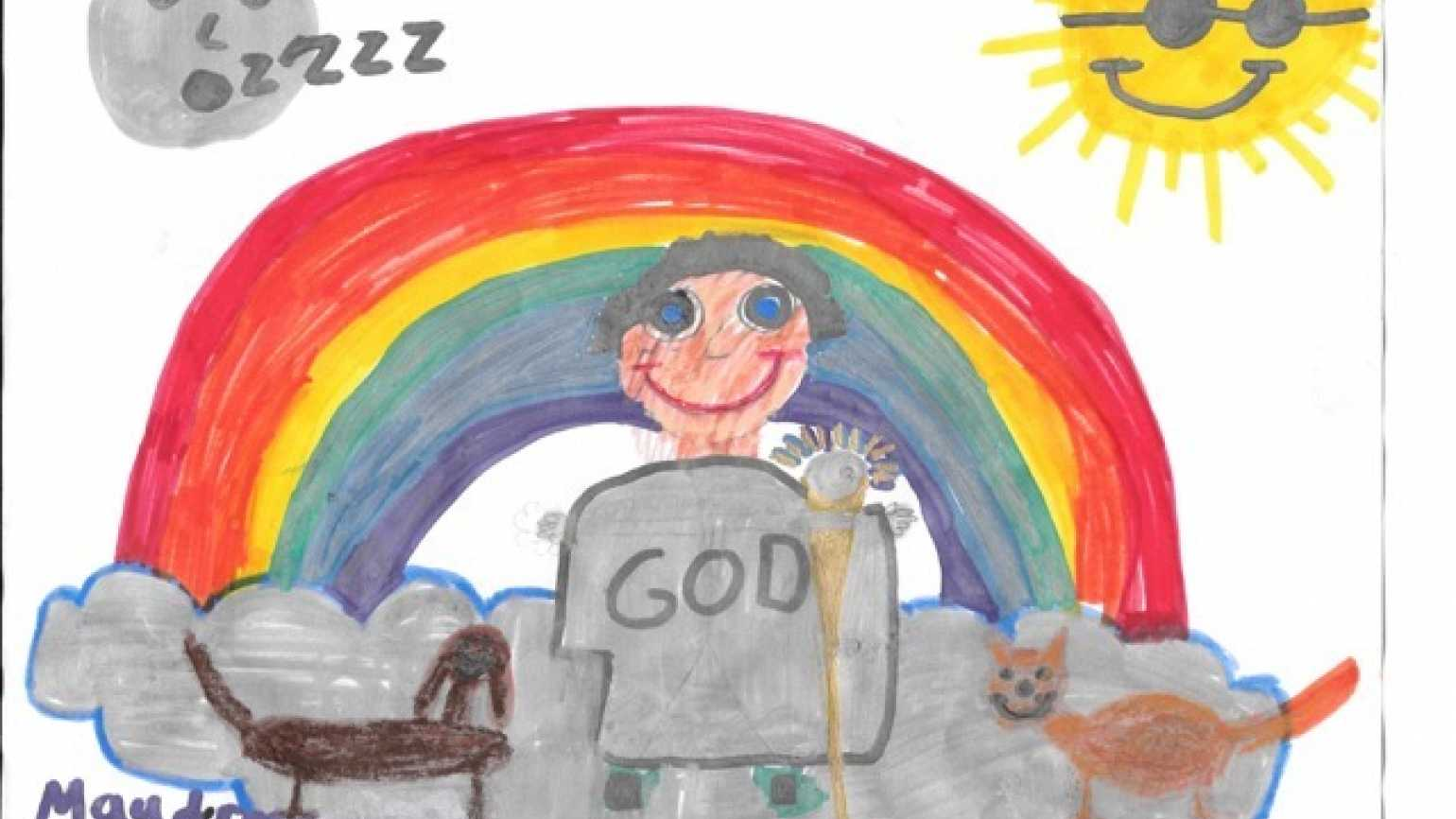 Maude Rose, age 9, sees God in heaven.