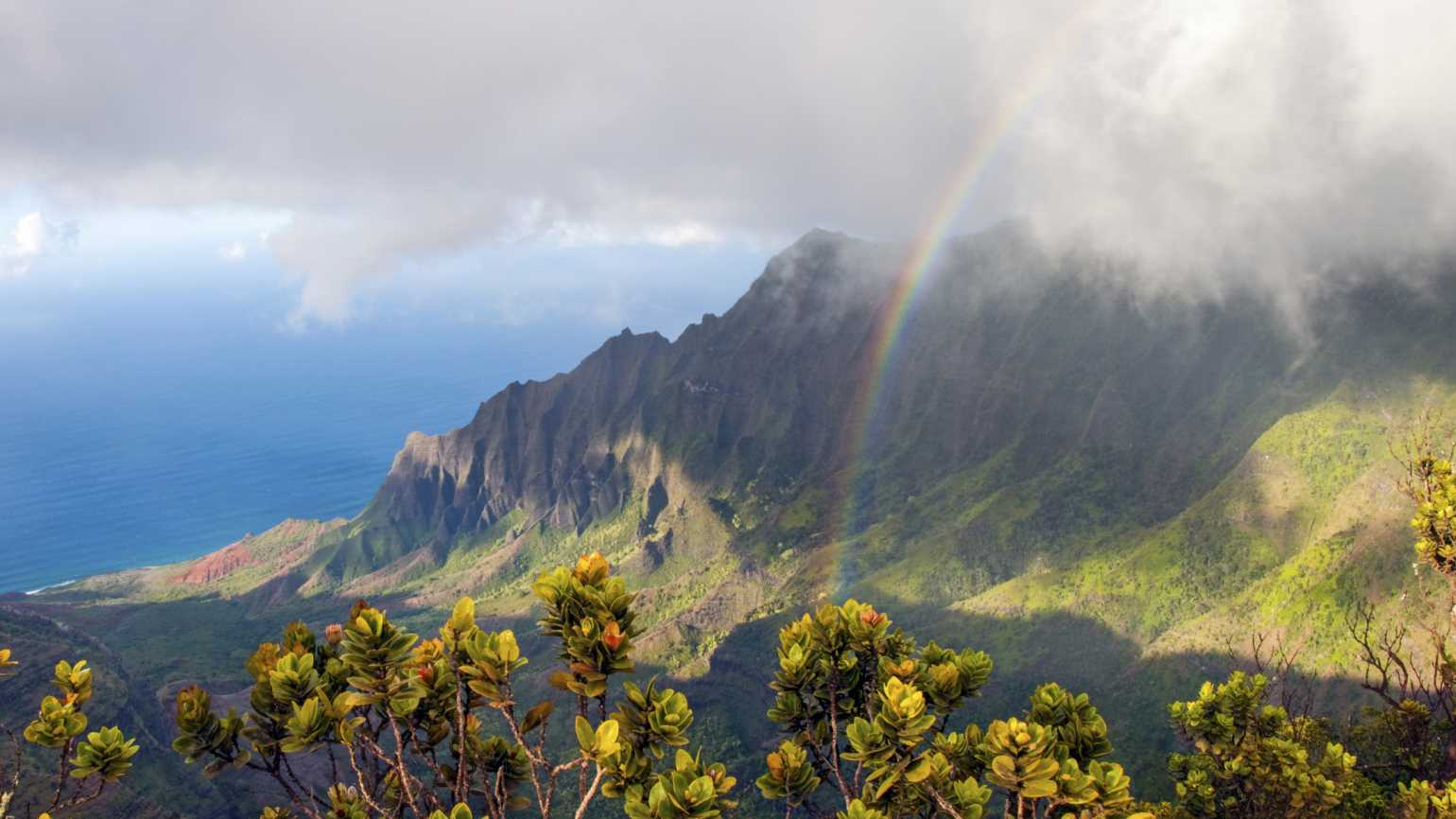 Na Pali Coastline rainbows