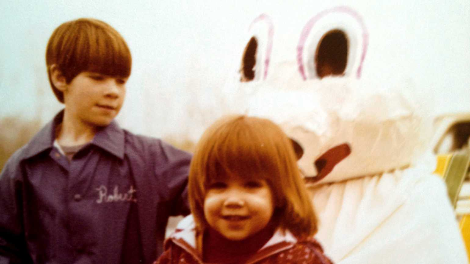 Guideposts: Nicole Woessner and her future husband, Rob, during a long ago Easter egg hunt