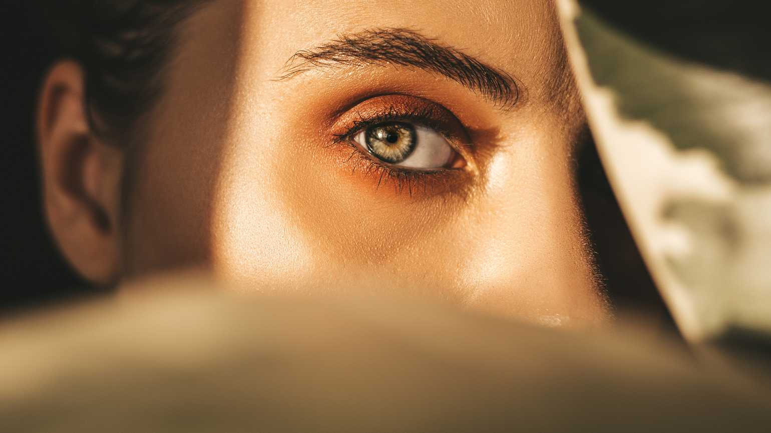 Close up of a woman's eye.