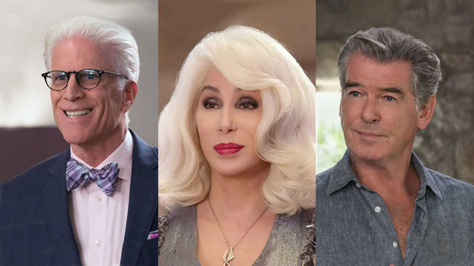 Ted Danson, Cher and Pierce Brosnan
