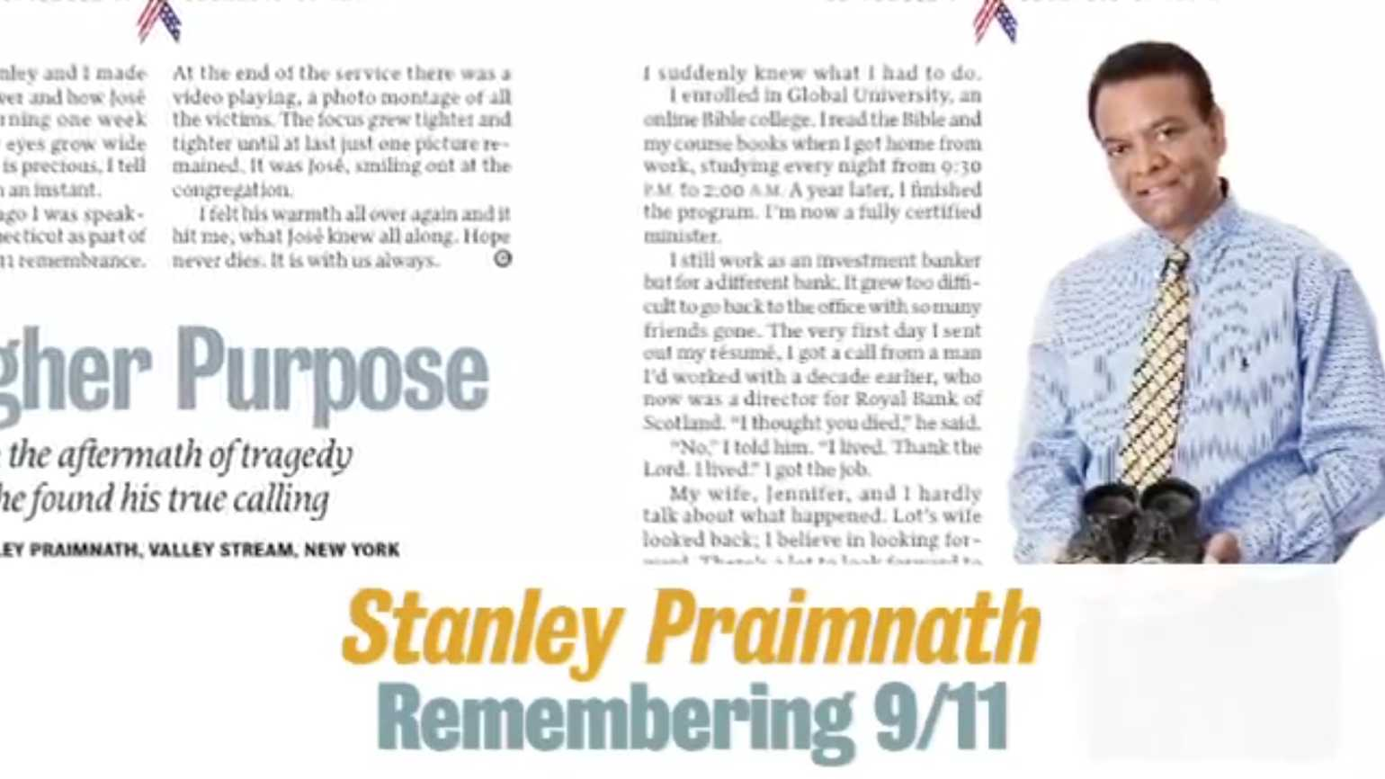 Stanley Praimnath: Remembering 9/11