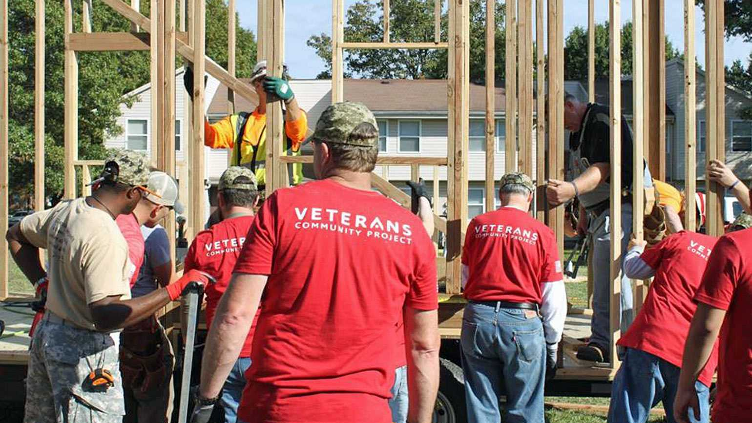 Veterans Community Project building tiny homes