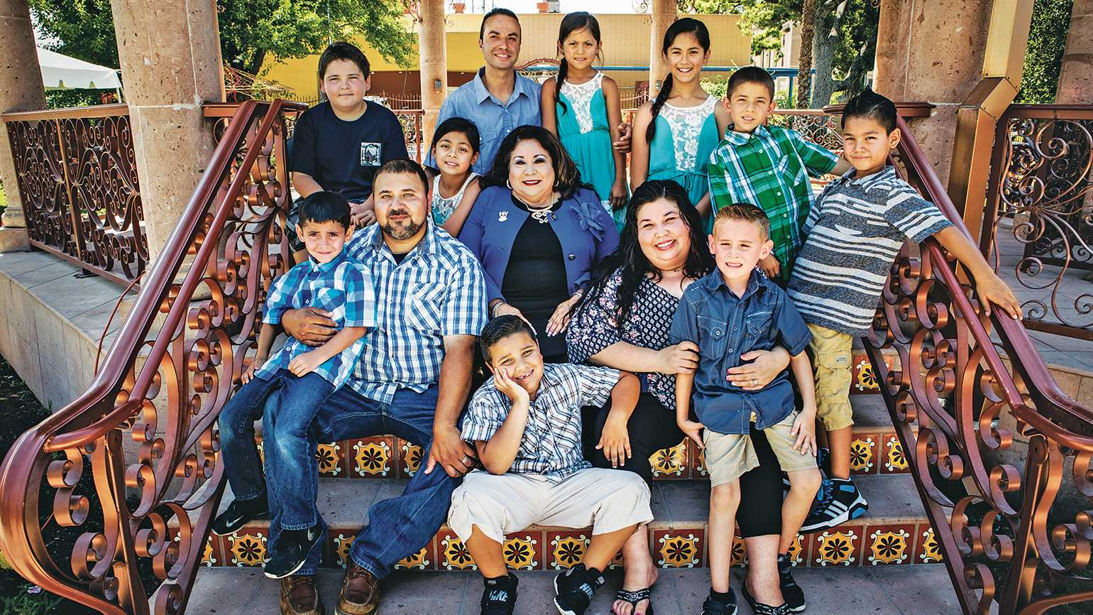 Lisa's family has really grown! That's her in the middle, surrounded by two of her children, a son-in-law and the grandchildren. Five of those grandchildren were adopted through the Angels of Grace program.
