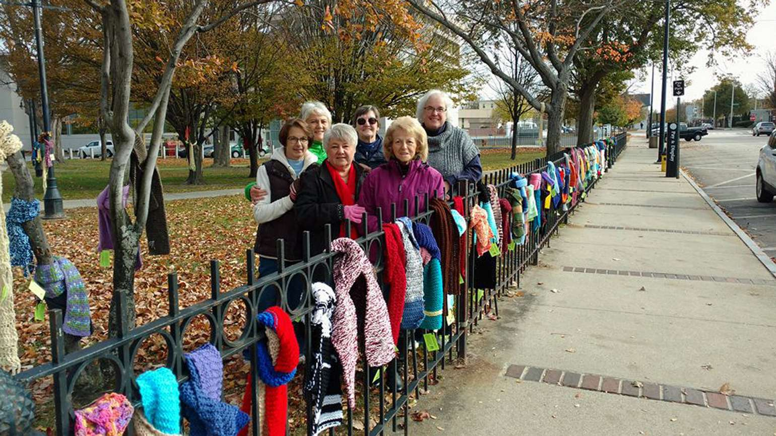 Local Church Knits Scarves For The Homeless