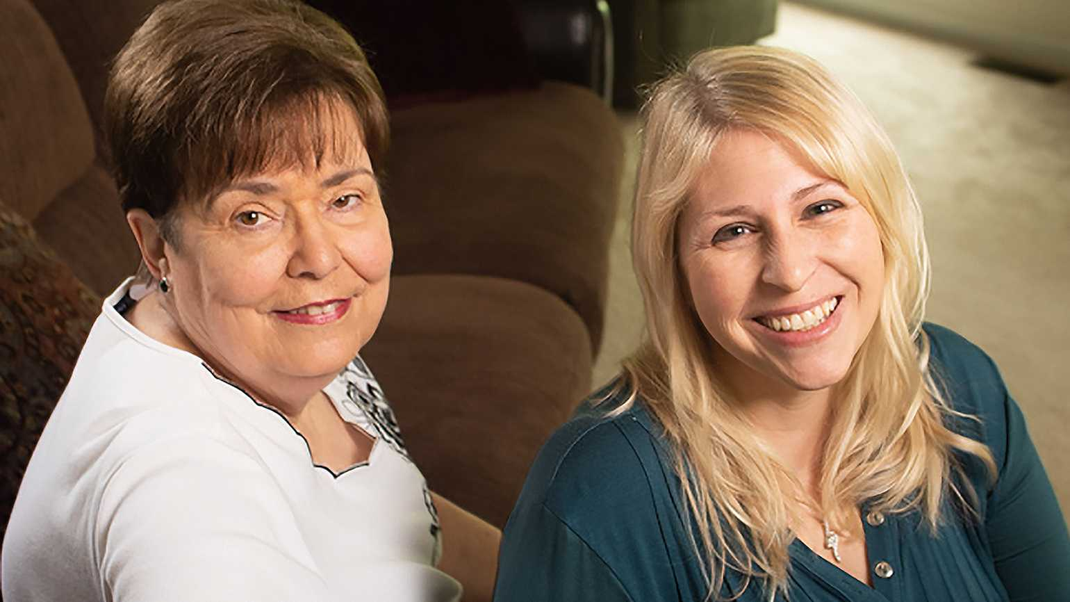 Diane Stark (right) and her mother-in-law, Judy